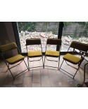 Suite de 4 chaises pliantes LAFUMA Vintage Années 70