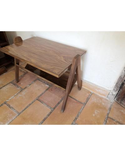 Table basse scandinave bois laqué vintage