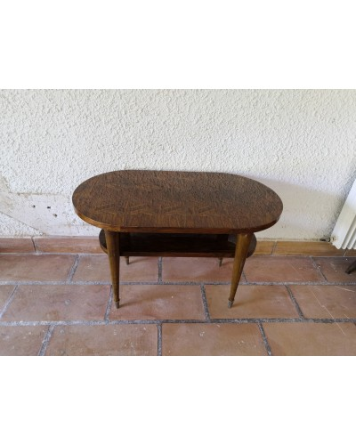 table basse ou d'appoint double plateaux vintage années 70