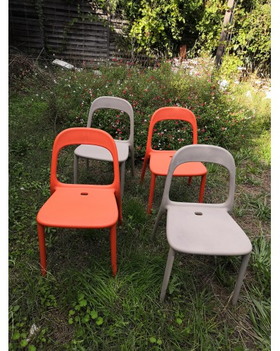Suite de 4 chaises Gondole vintage design de Carl Öjerstam et Magnus Eleback