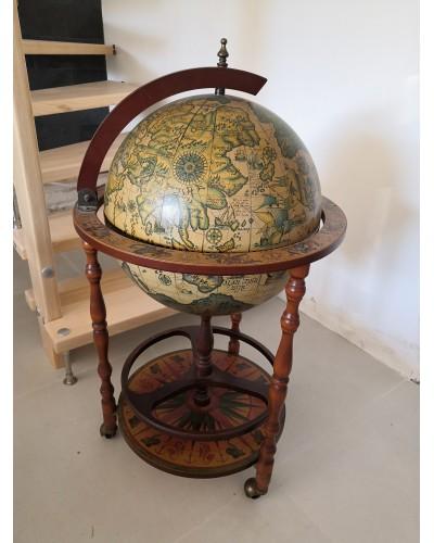 Bar Globe Terrestre  Mappemonde Made in Italy ZOFFOLI vintage années 70/80