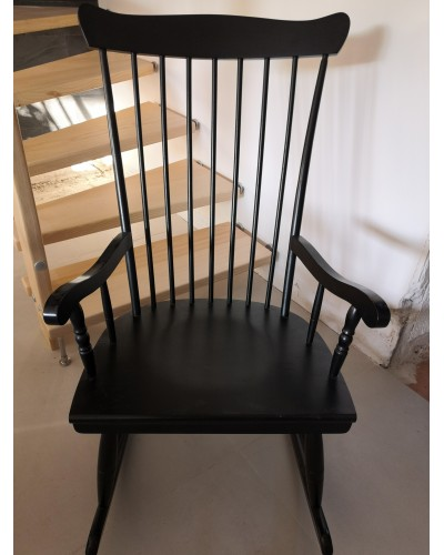 Rocking-Chair scandinave noir