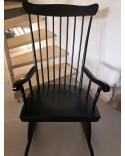 Rocking-Chair scandinave noir