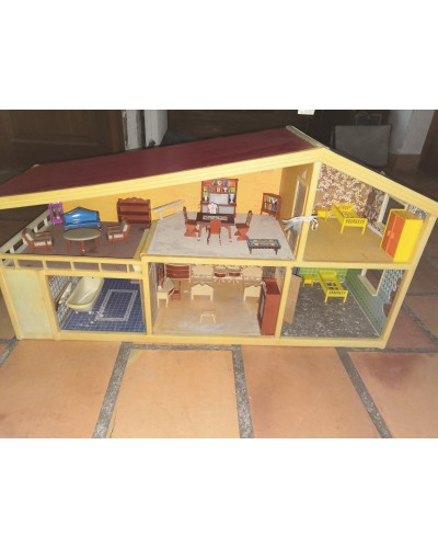Maison miniature meublée Denmark NO Playmobil Vintage