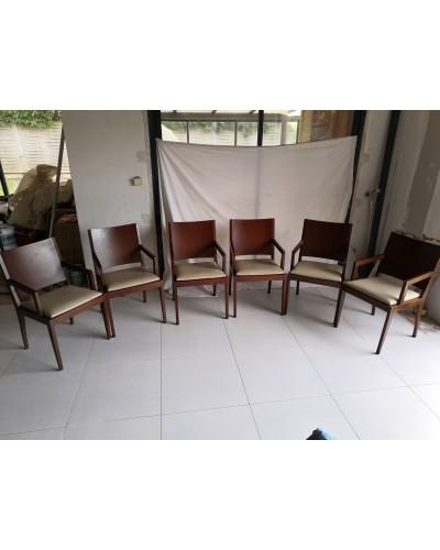 Suite de 6 fauteuils CJC Concepta Barcelona Vintage