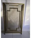 Console Cache radiateur vintage tôle perforée Trèfle 1950s