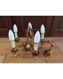 Lustre en bronze 5 branches de belle qualité