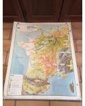 Carte Scolaire ancienne FRANCE Relief et structure