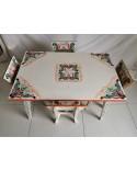Salon table + 4 chaises enfant vintage ethnique