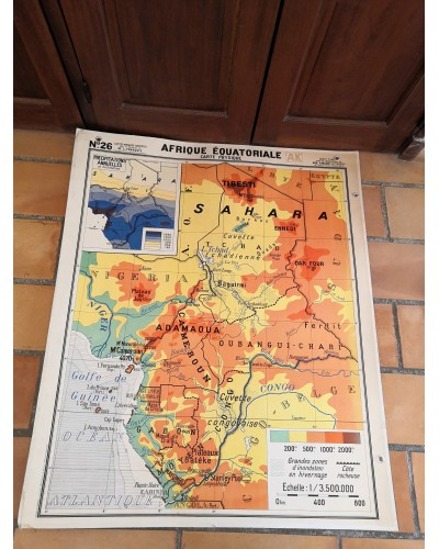Carte Scolaire ancienne AFRIQUE ÉQUATORIALE N°26